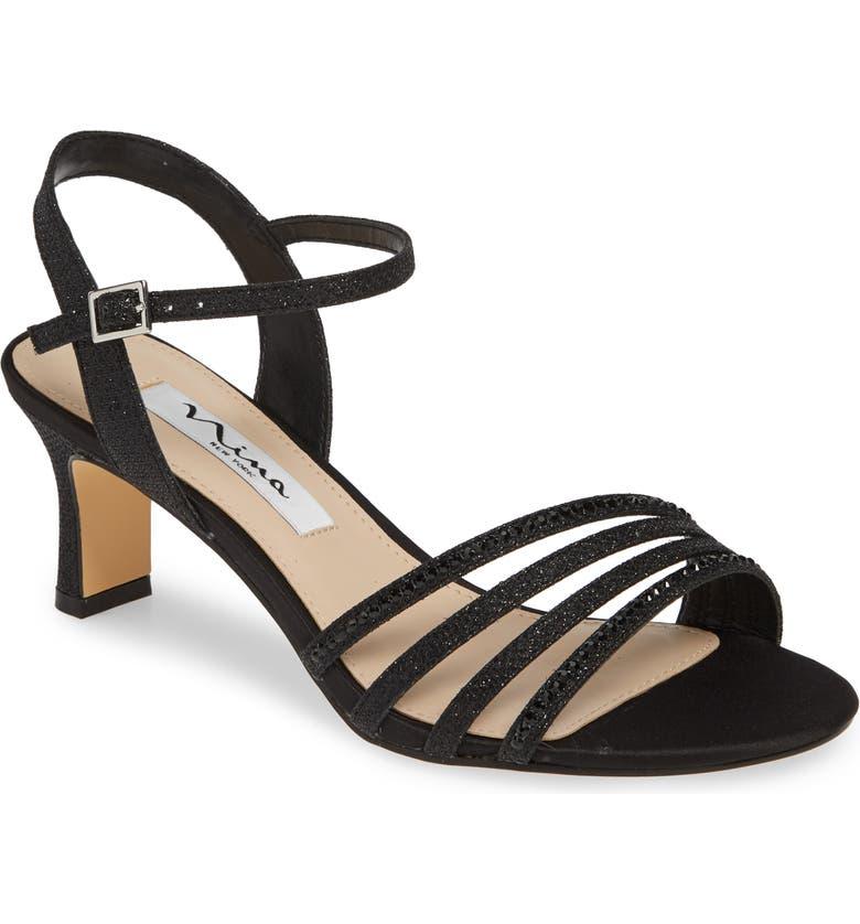 NINA Nelena Sandal, Main, color, BLACK FABRIC