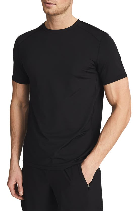 Reiss Morgan Short Sleeve Performance T-shirt In Black