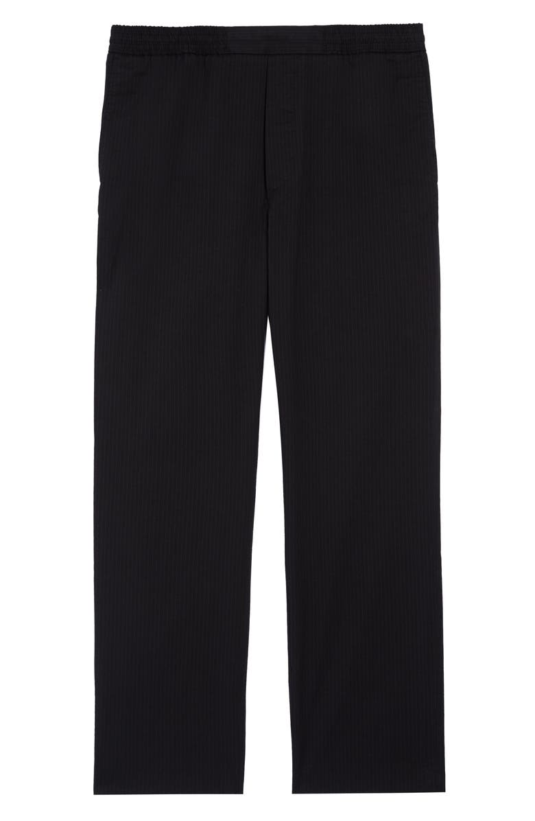 ACNE STUDIOS Pismo Pinstripe Pants, Main, color, DARK BLUE/BLACK