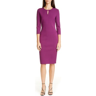 St. John Collection Luxe Sculpture Knit Sheath Dress, (similar to 1) - Purple