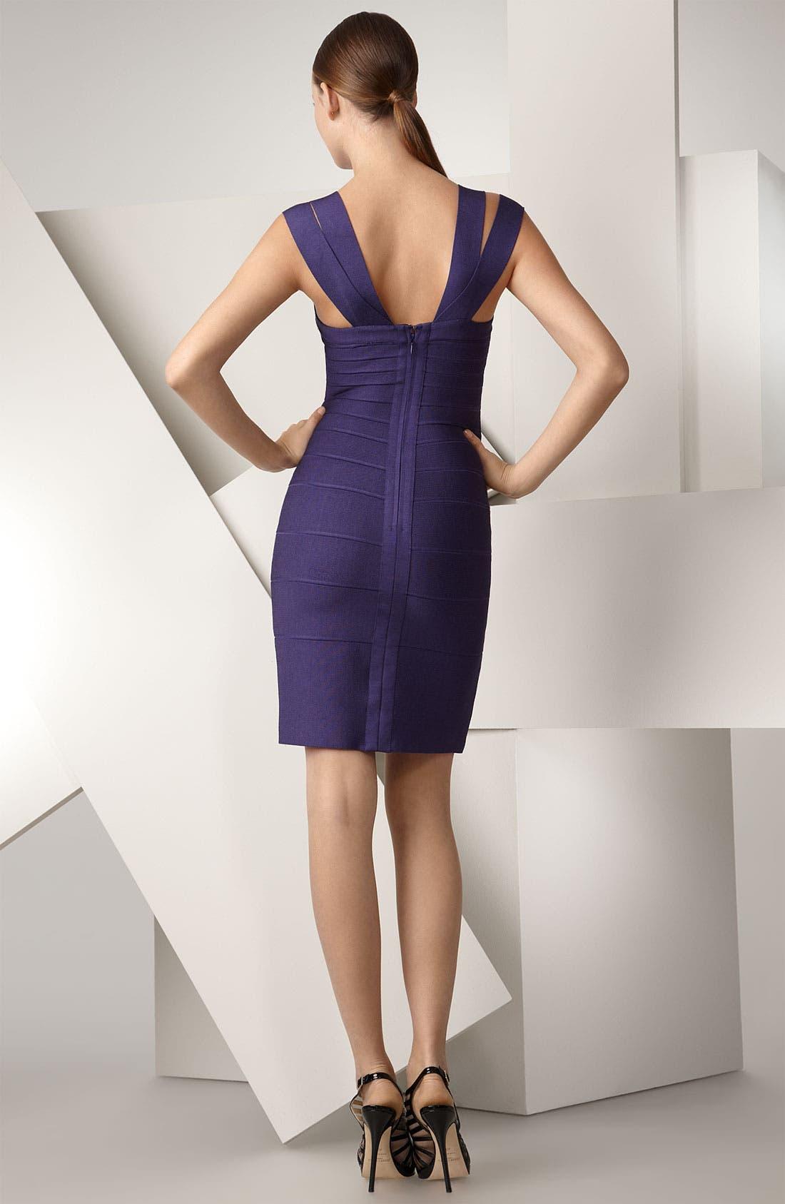 ,                             Double Strap Bandage Dress,                             Alternate thumbnail 2, color,                             447