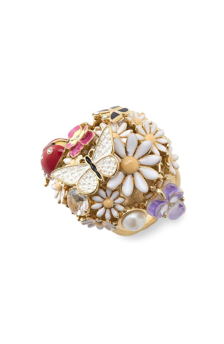 JUICY COUTURE 'Flower Punk' Ring, Main, color, 710