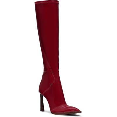 Fendi Stivale Patent Tall Boot - Red
