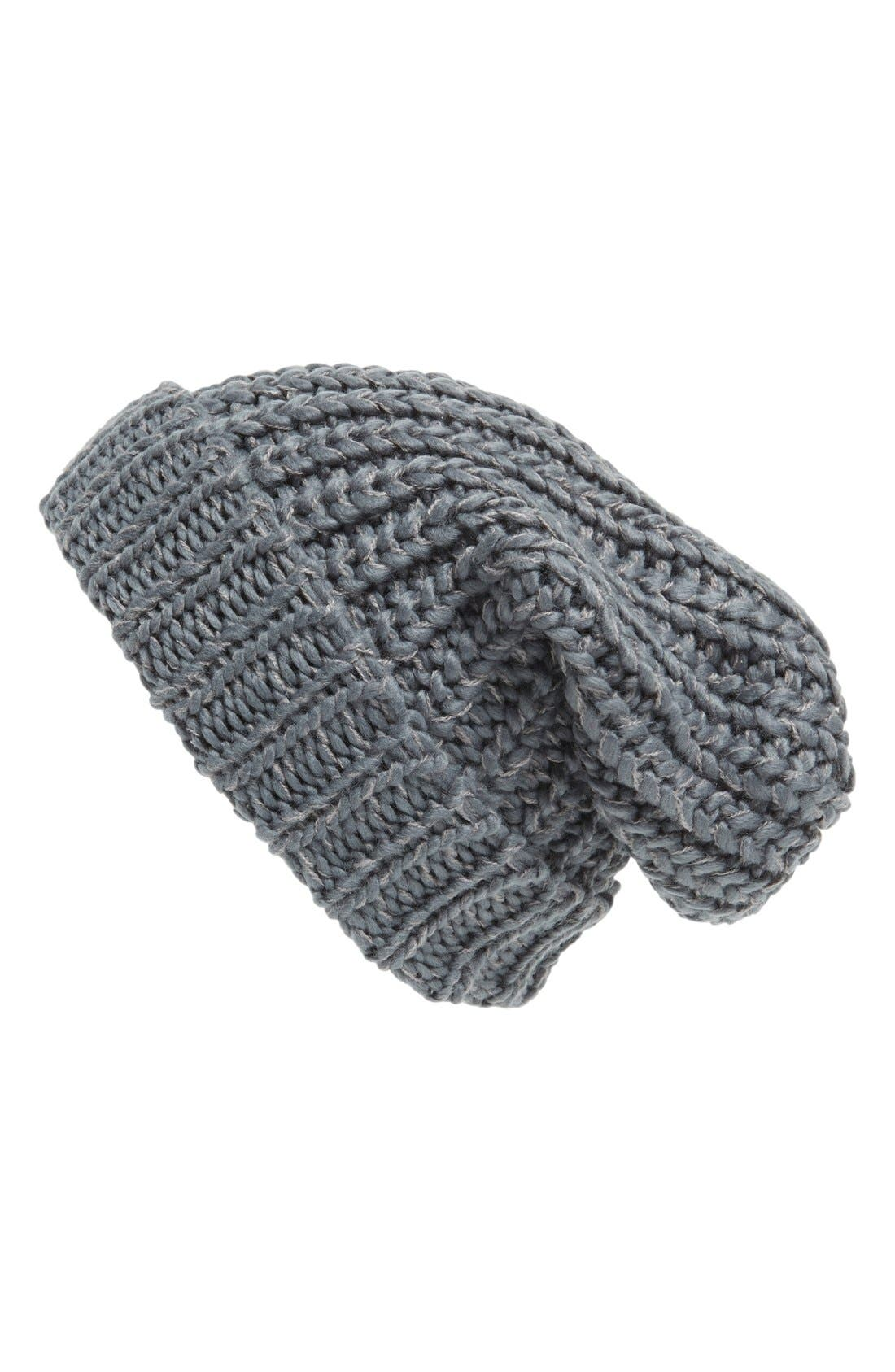 ,                             Chunky Rib Knit Beanie,                             Main thumbnail 5, color,                             021