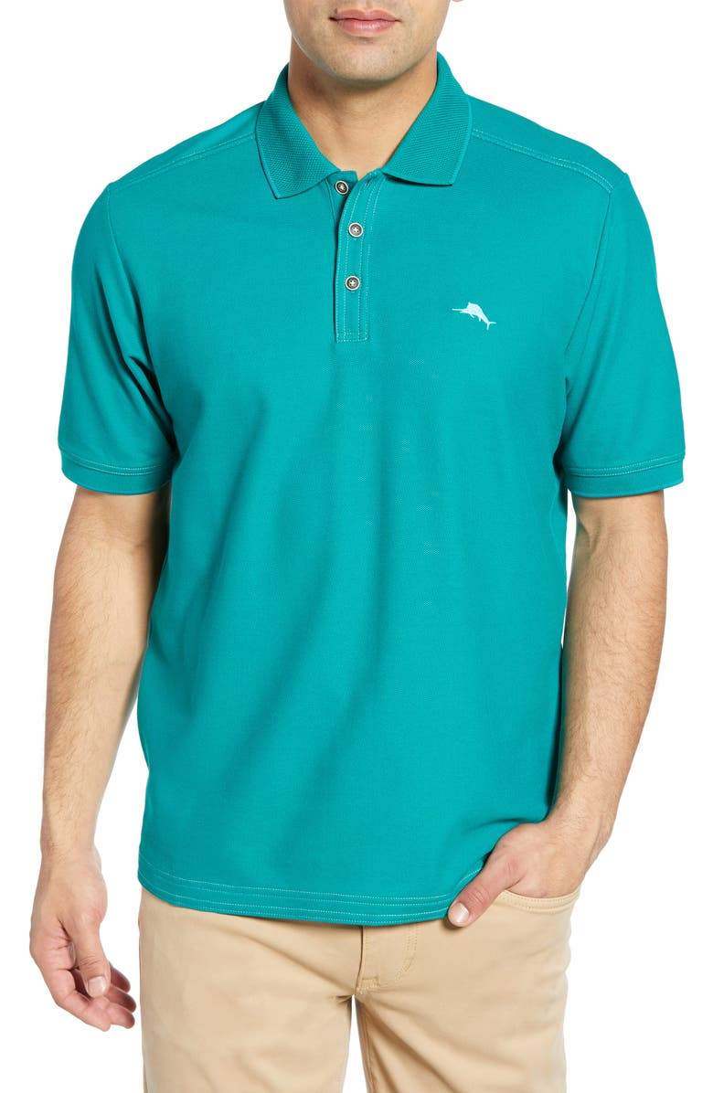 TOMMY BAHAMA Emfielder 2.0 Polo, Main, color, BLUE NOTE