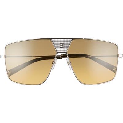 Givenchy 6m Oversize Aviator Sunglasses - Ruthenium/ Brown Ochra