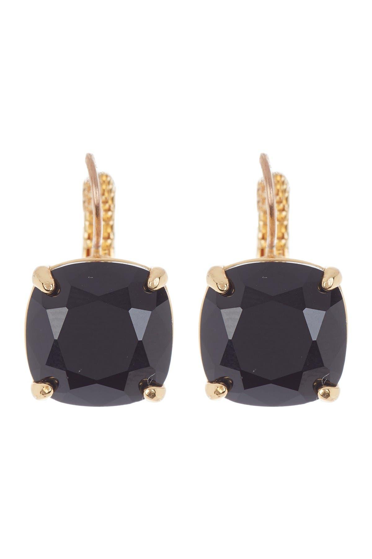 Image of kate spade new york square black cz drop earrings