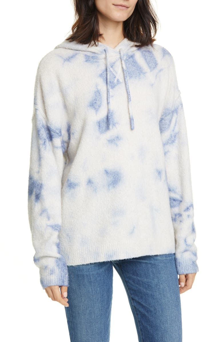 LINE Philippa Tie Dye Merino Wool Blend Hoodie Sweater, Main, color, 900