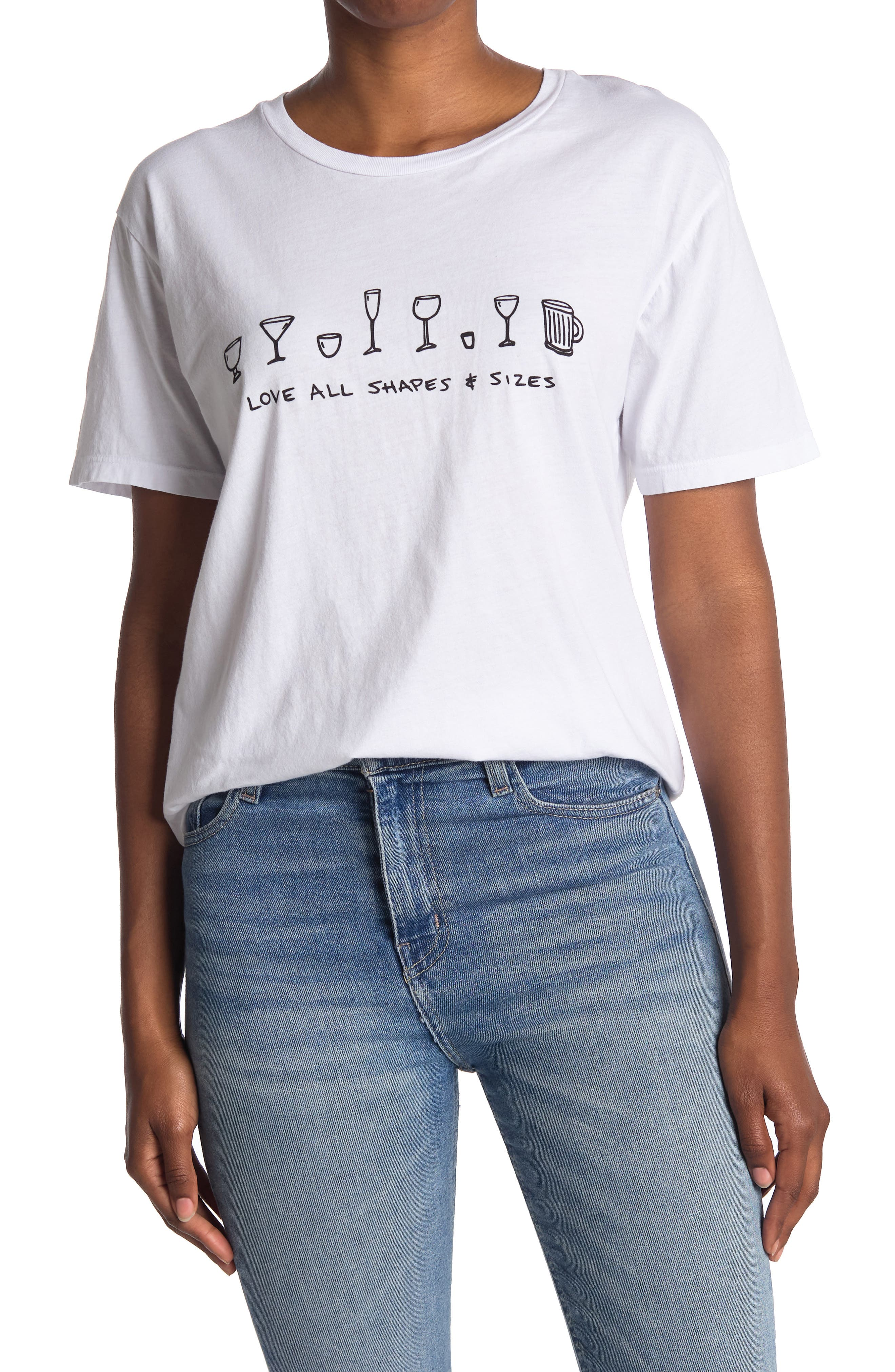 Project Social T Womens Utah Split-Sleeve Basic T-Shirt