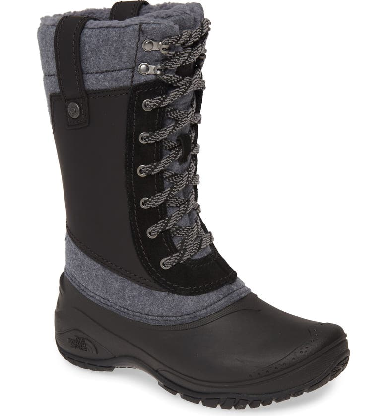 THE NORTH FACE Shellista III Waterproof Insulated Winter Boot, Main, color, BLACK/ GREY LEATHER