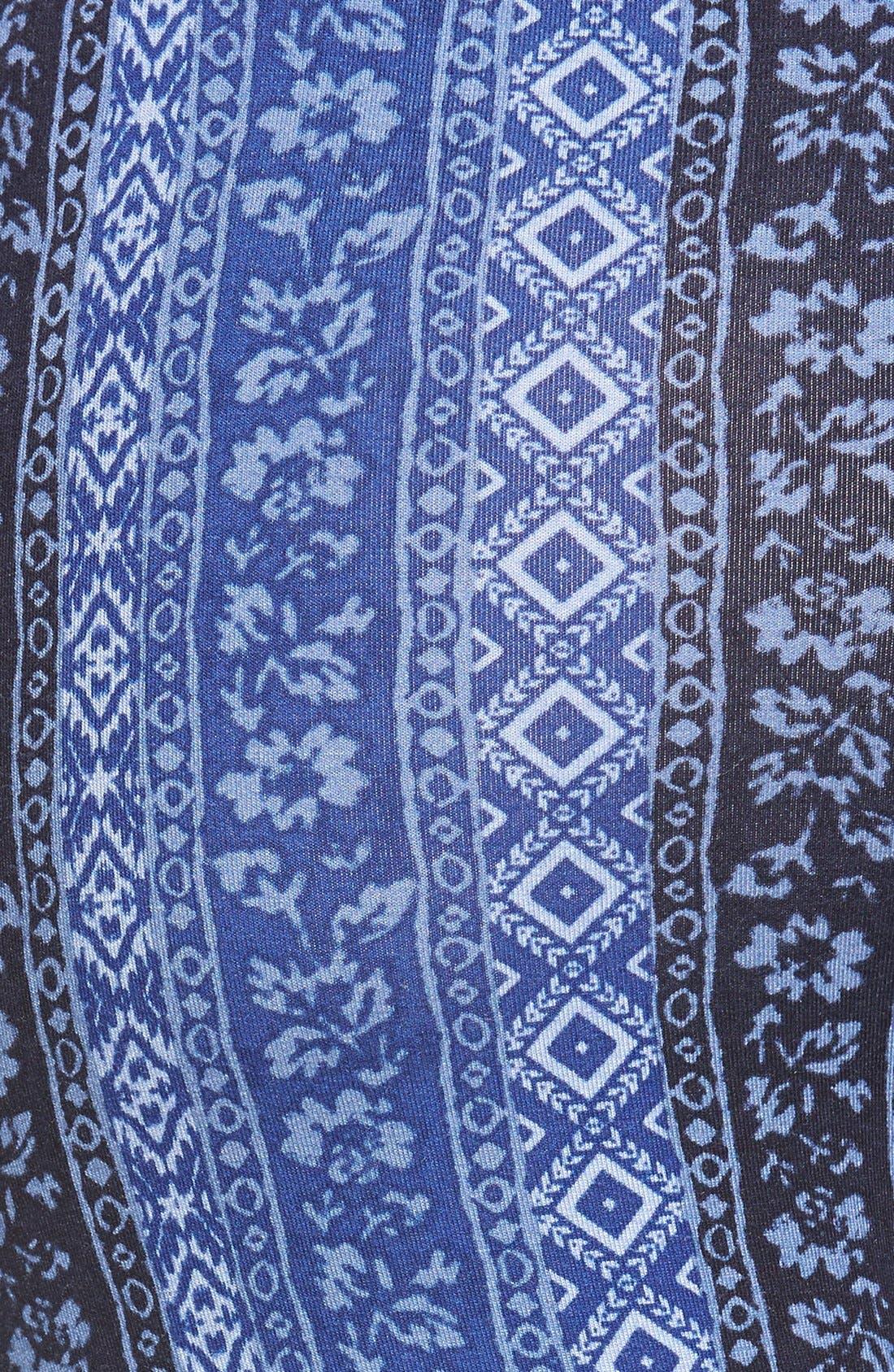 ,                             Mixed Print Flare Leg Pants,                             Alternate thumbnail 105, color,                             470