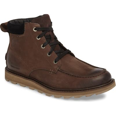 Sorel Madson Moc Toe Waterproof Boot- Brown