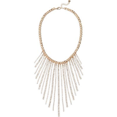 Halogen Fringe Collar Necklace