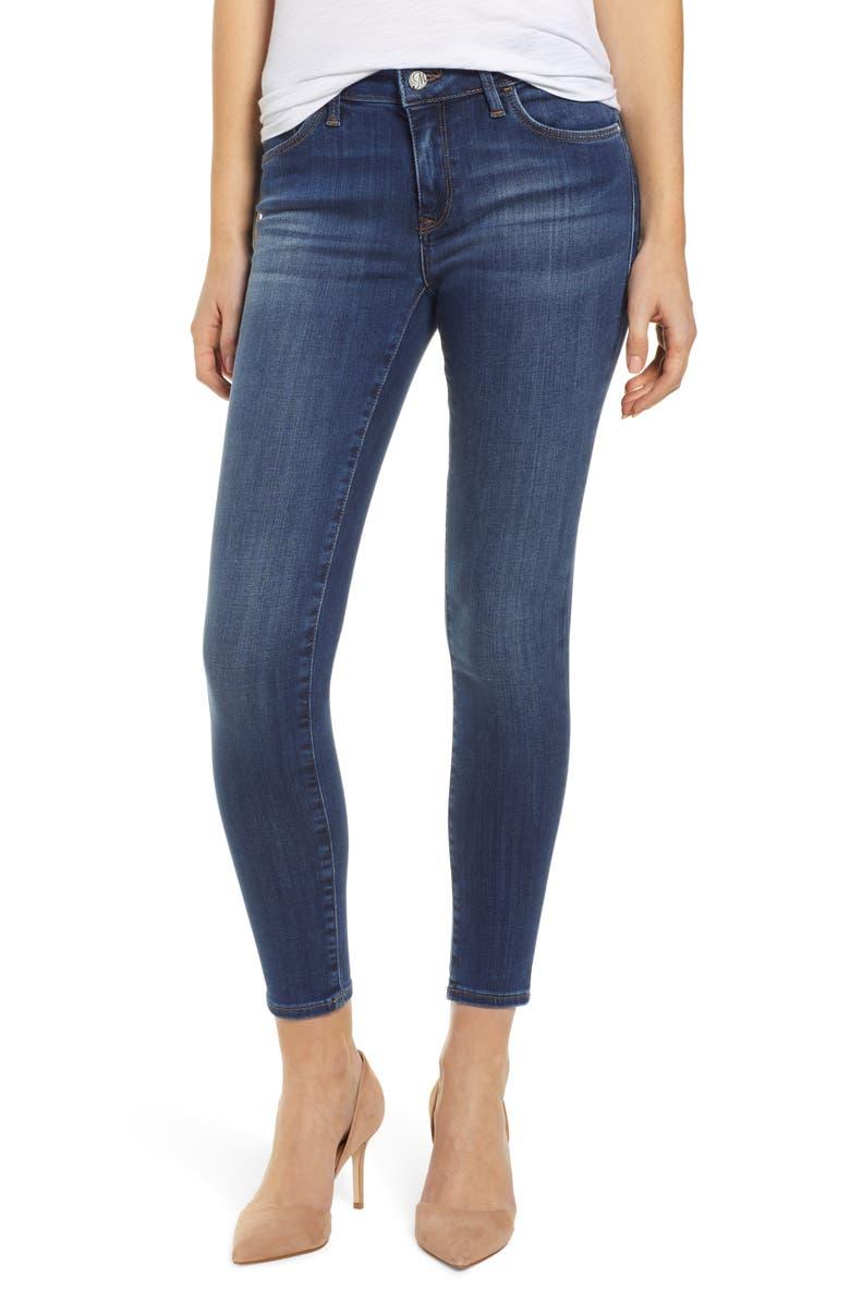 MAVI JEANS Adriana Skinny Jeans, Main, color, INDIGO SUPERSOFT