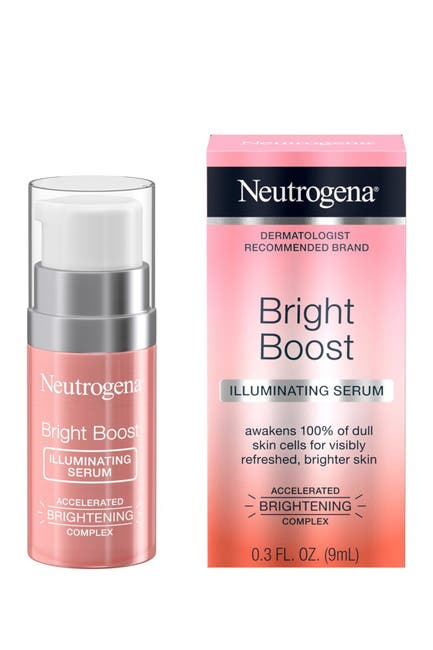 Image of Neutrogena Bright Boost Illuminating Face Serum with Neoglucosamine & Turmeric Extract for Even Skin Tone, Resurfacing Serum for Face to Reduce Dark Spots & Hyperpigmentation, 0.3 fl. oz