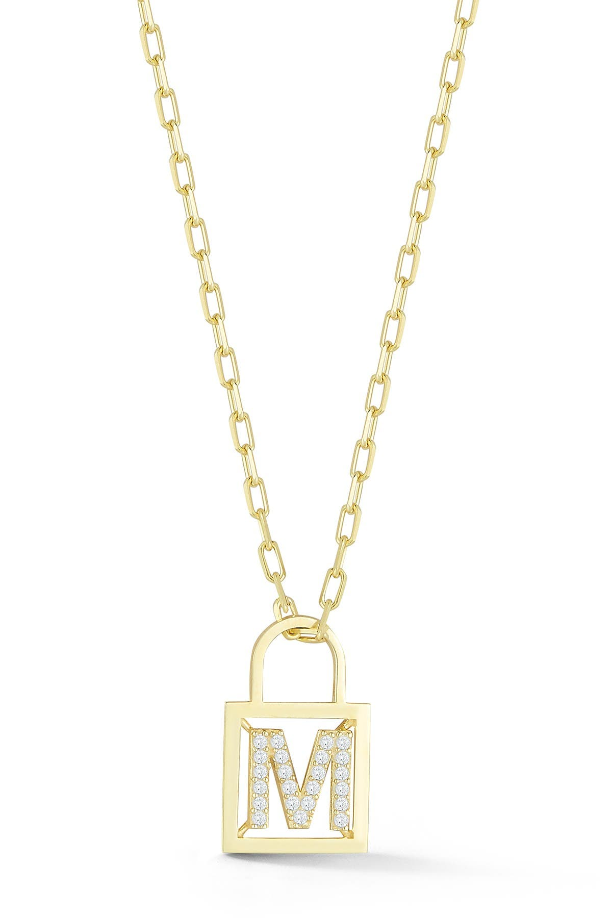 Image of Sphera Milano Gold Vermeil Padlock Necklace