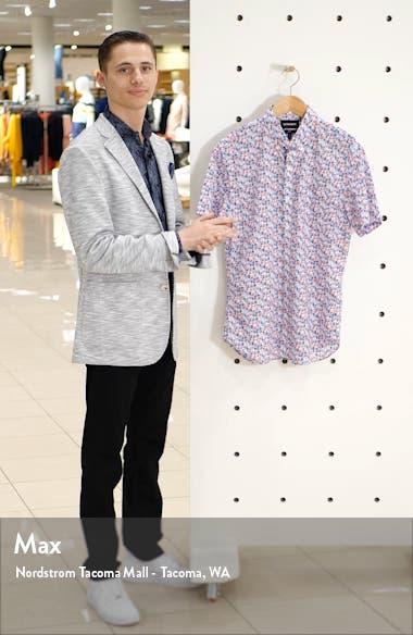 Slim Fit Floral Print Cotton Button-Up Shirt, sales video thumbnail