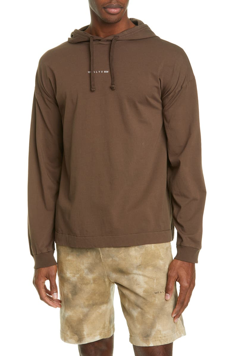 1017 ALYX 9SM Graphic Hooded T-Shirt, Main, color, BROWN