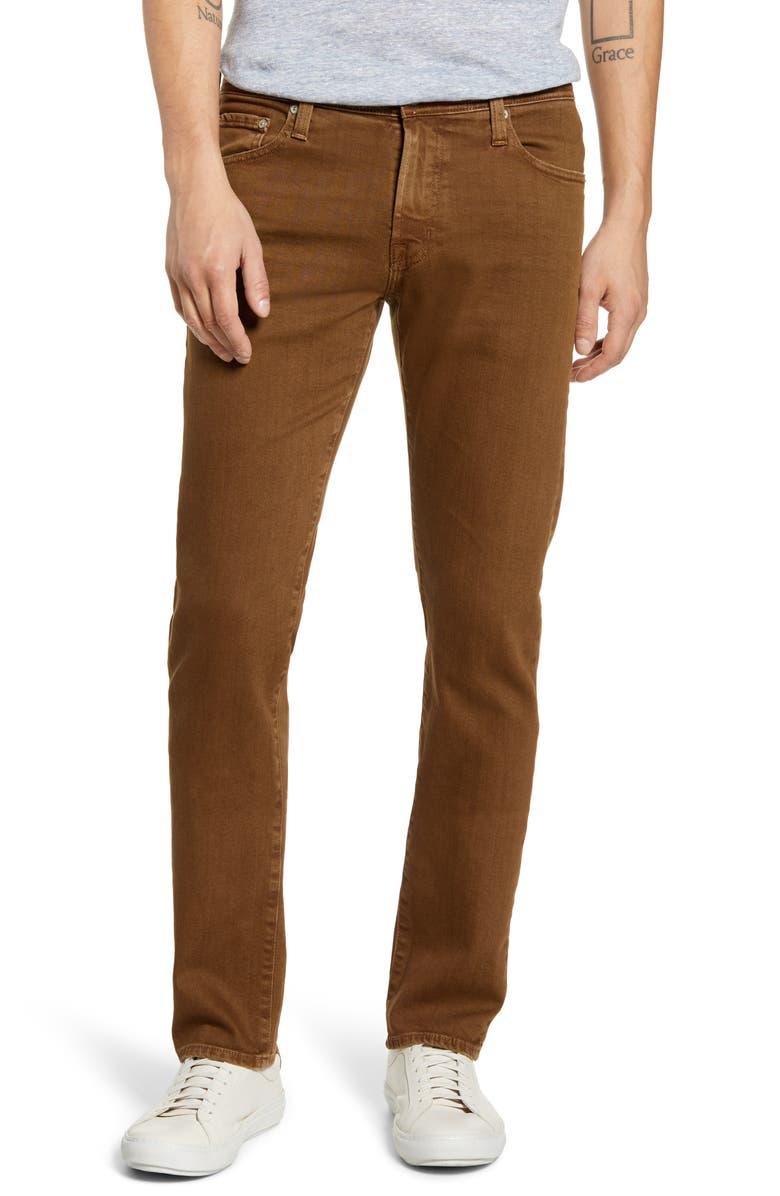 AG Tellis Slim Fit Jeans, Main, color, 7 YEARS LEPUS BROWN