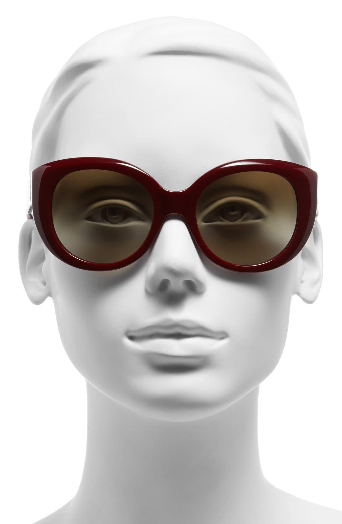 ,                             54mm Cat Eye Sunglasses,                             Alternate thumbnail 8, color,                             600