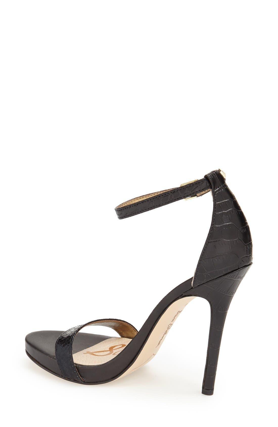 ,                             'Eleanor' Ankle Strap Sandal,                             Alternate thumbnail 38, color,                             007