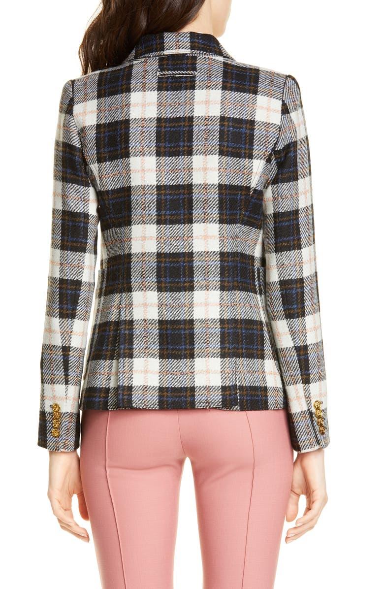 SMYTHE Duchess Buffalo Check Wool Blazer, Main, color, BLACK/ IVORY PLAID