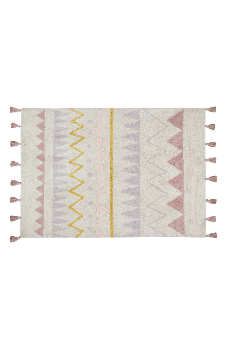 LORENA CANALS Geometric Tassel Rug, Main, color, AZTECA NATURAL-VINTAGE NUDE