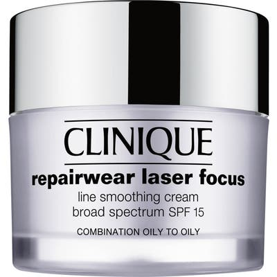 Clinique Repairwear Laser Focus Spf 15 Line Smoothing Cream For Combination Oily To Oily Skin