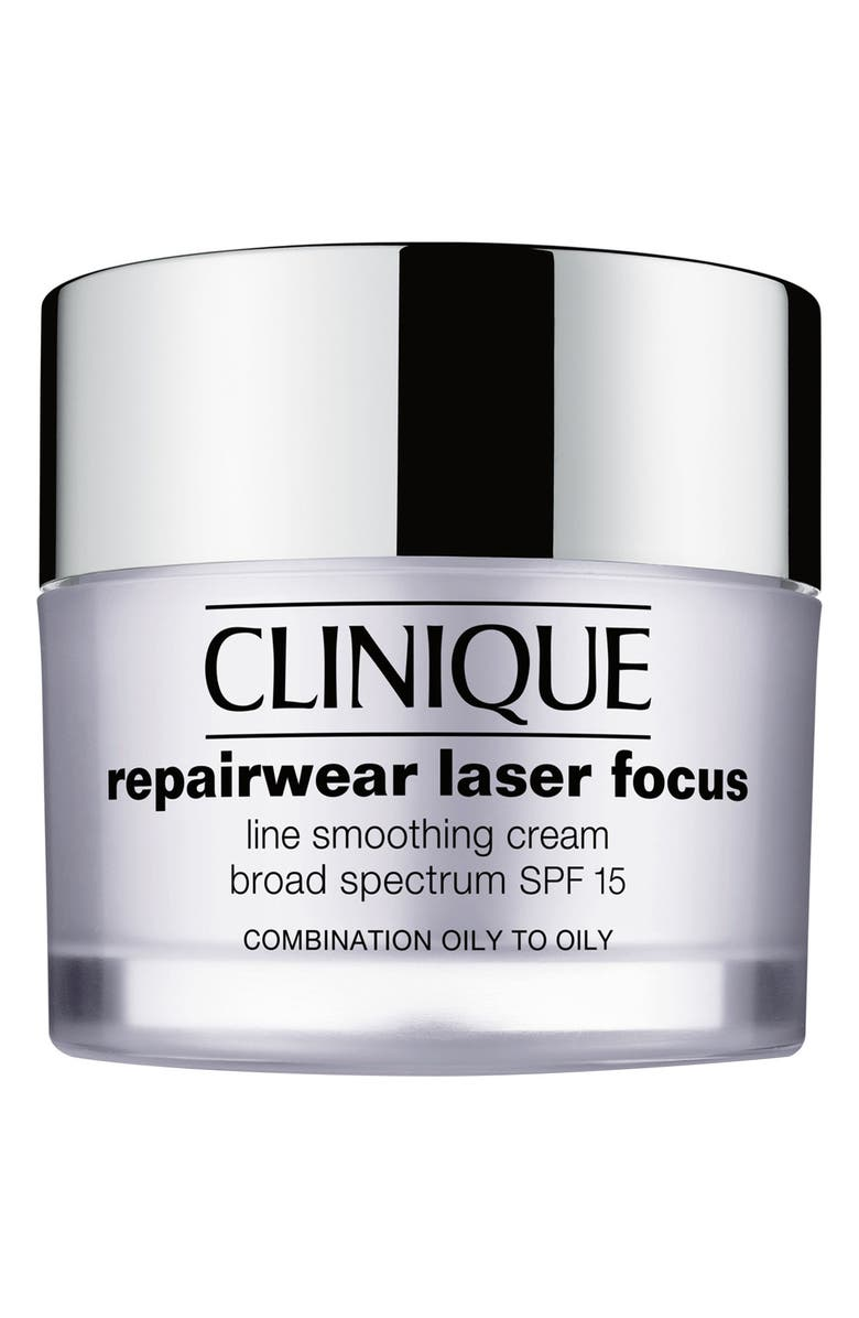 CLINIQUE Repairwear Laser Focus SPF 15 Line Smoothing Cream for Combination Oily to Oily Skin, Main, color, COMBINATION OILY TO OILY
