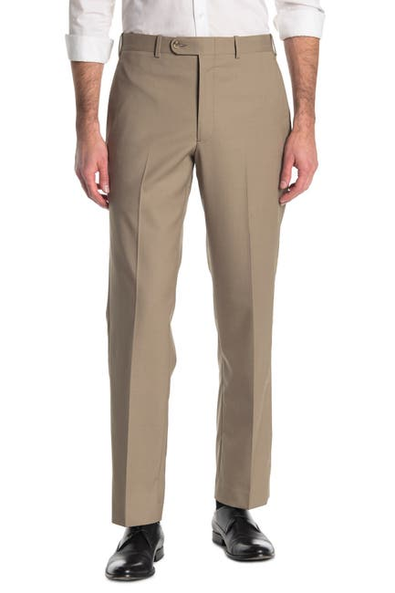 Image of JB BRITCHES Wool Blend Flat Front Trouders