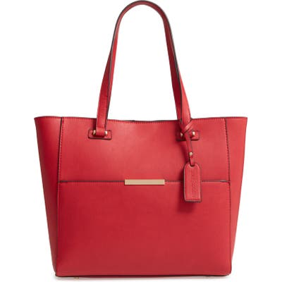 Sole Society Alyn Faux Leather Tote - Red