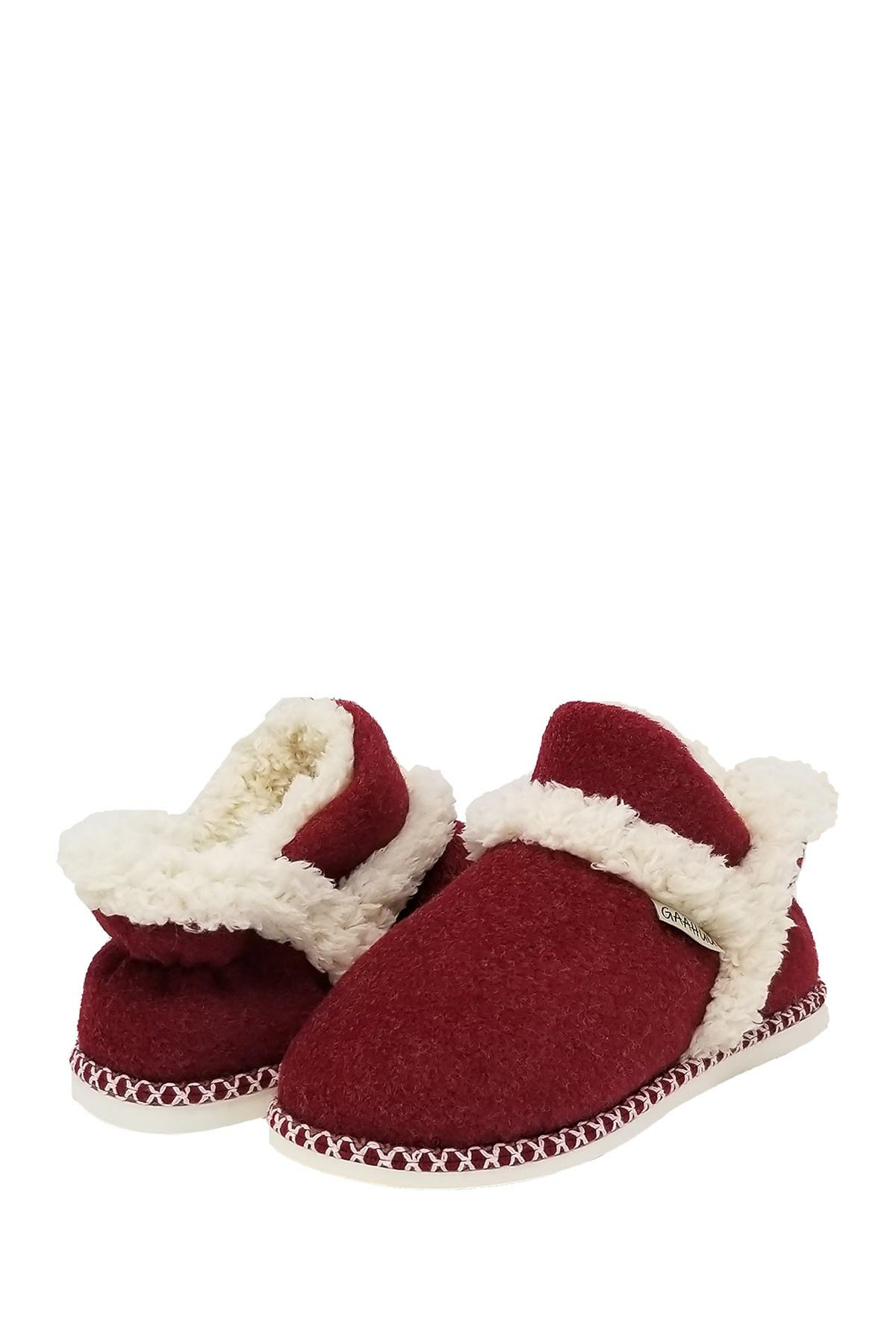 Image of GAAHUU Faux Wool & Faux Fur Ankle Slipper Boot