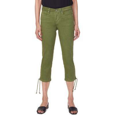 Nydj Drawcord Hem Capri Jeans, Green