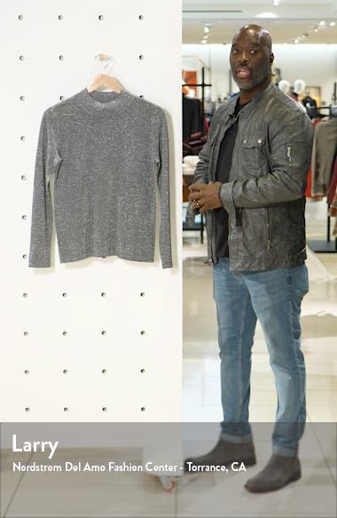 Metallic Mock Neck Sweater, sales video thumbnail