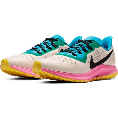 Nike Air Zoom Pegasus 36 Trail Running Shoe, Beige