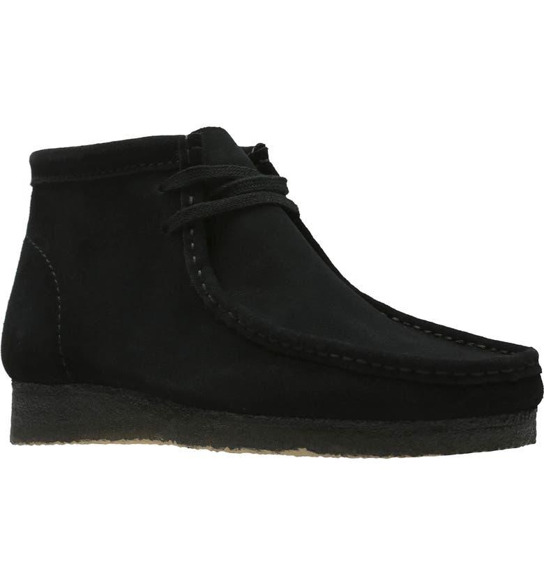 CLARKS<SUP>®</SUP> Originals 'Wallabee' Boot, Main, color, BLACK SUEDE