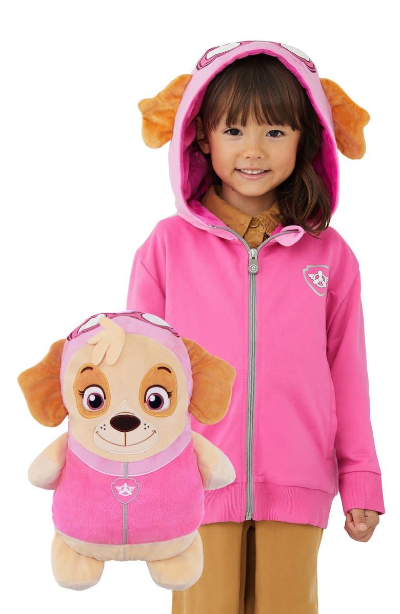 CUBCOATS x Nickelodeon<sup>®</sup> PAW Patrol<sup>™</sup> Skye 2-in-1 Stuffed Animal Hoodie, Main, color, FUCHSIA MIX