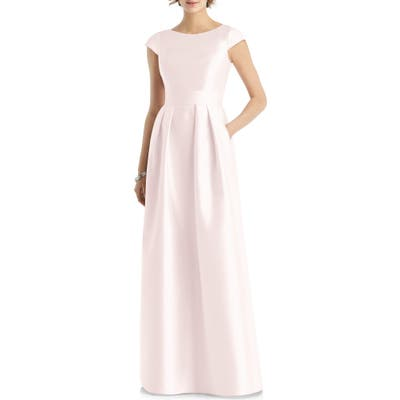 Alfred Sung Cap Sleeve Gown, Pink