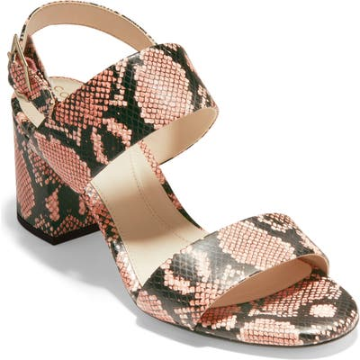 Cole Haan Avani Block Heel Sandal B - Pink
