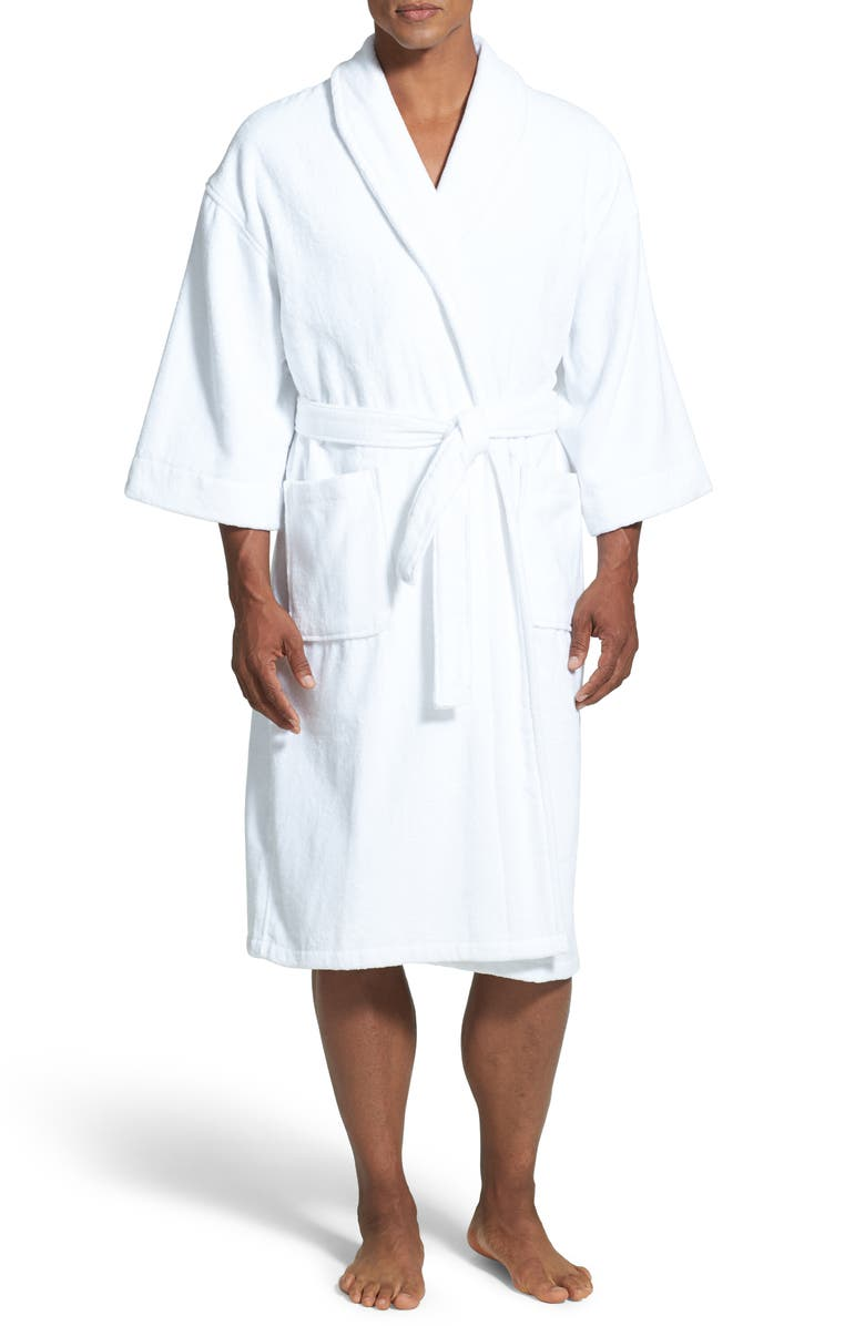 MAJESTIC INTERNATIONAL Terry Velour Robe, Main, color, WHITE