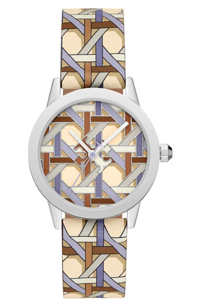 Tory Burch Watches THE GIGI LEATHER STRAP WATCH, 36MM
