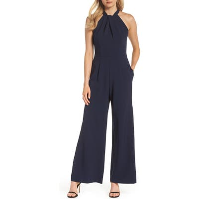 Julia Jordan Halter Neck Jumpsuit, Blue