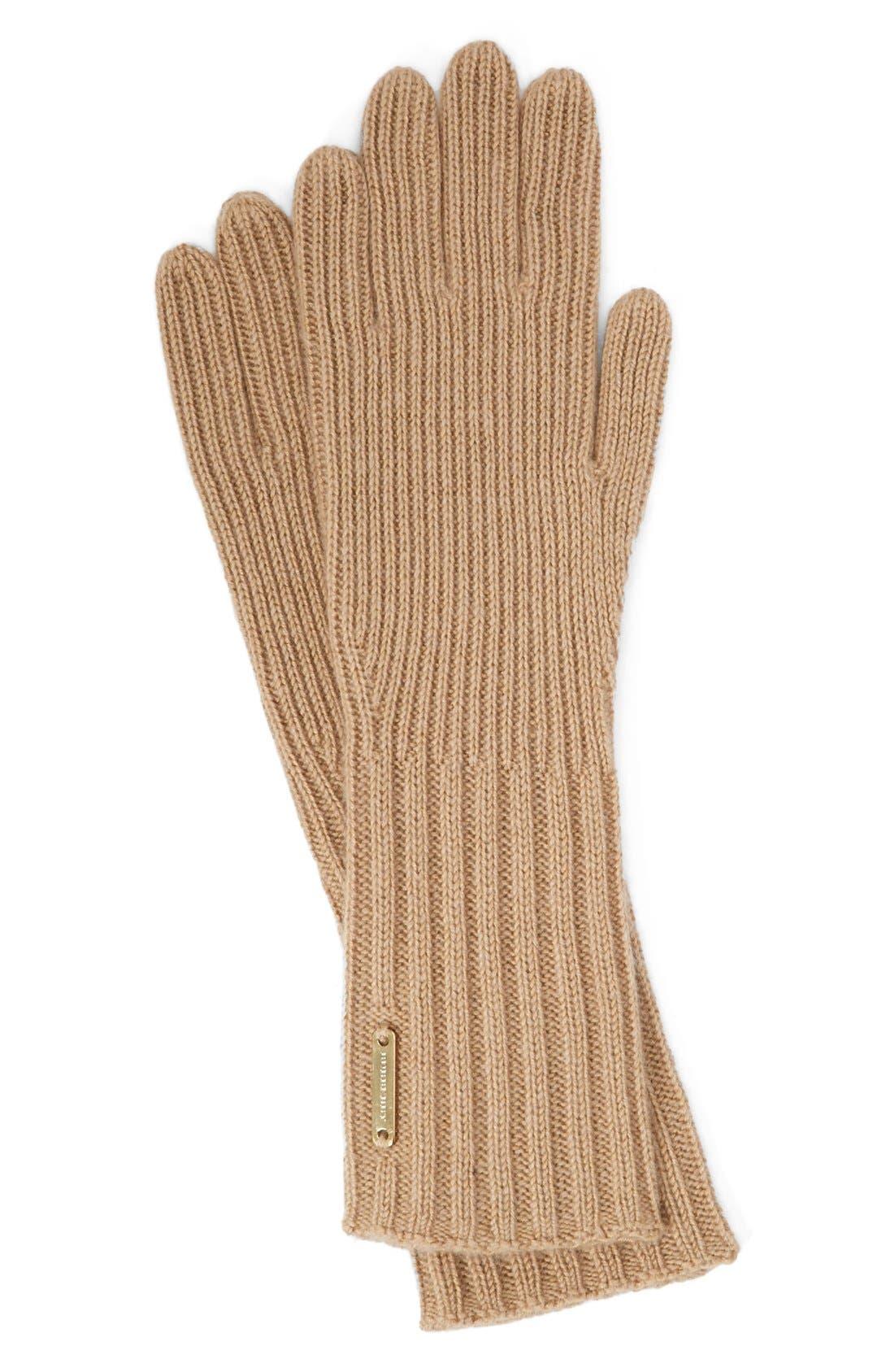 ,                             Cashmere Blend Touch Tech Knit Gloves,                             Main thumbnail 5, color,                             231
