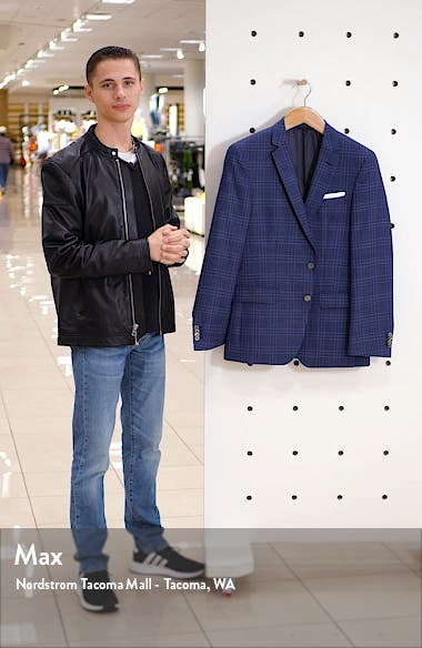 Hutsons Trim Fit Plaid Wool Sport Coat, sales video thumbnail