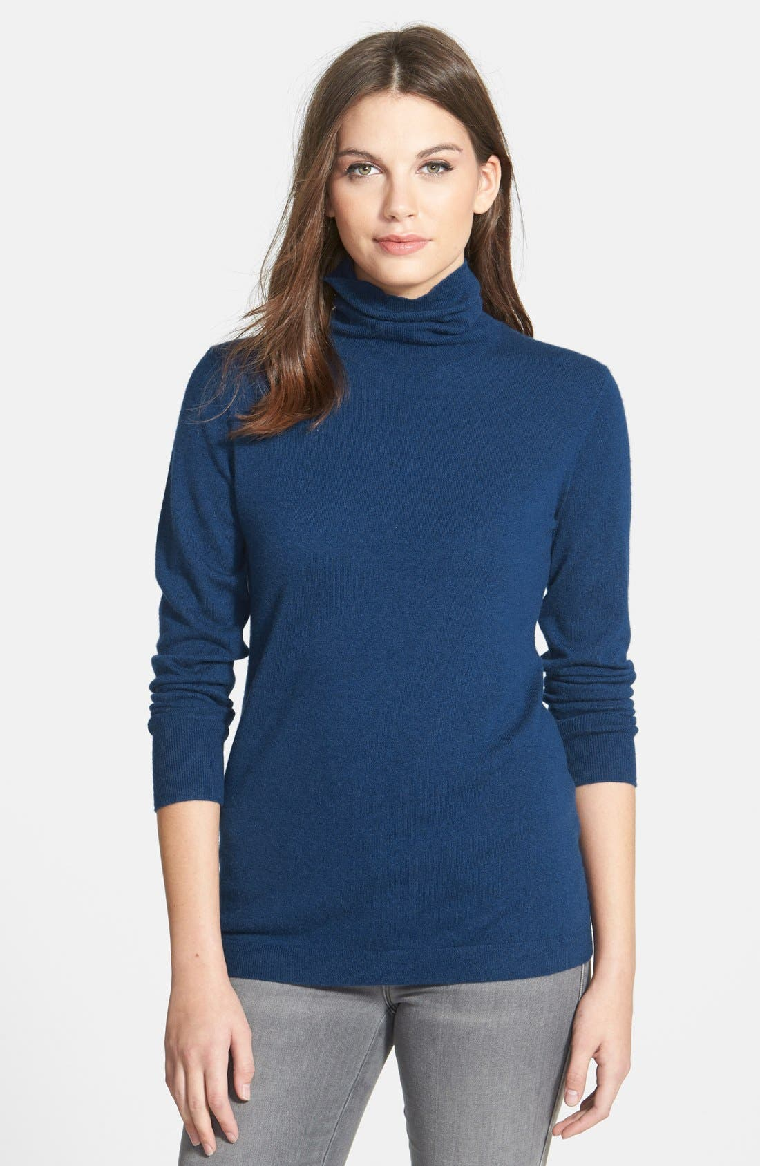 ,                             Long Cashmere Turtleneck Sweater,                             Main thumbnail 26, color,                             402