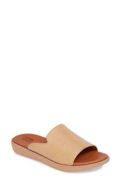Image of Fitflop Saffi Leather Slide Sandal