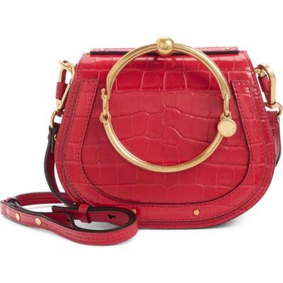 Chloe Nile Bracelet Croc Embossed Leather Crossbody Bag -