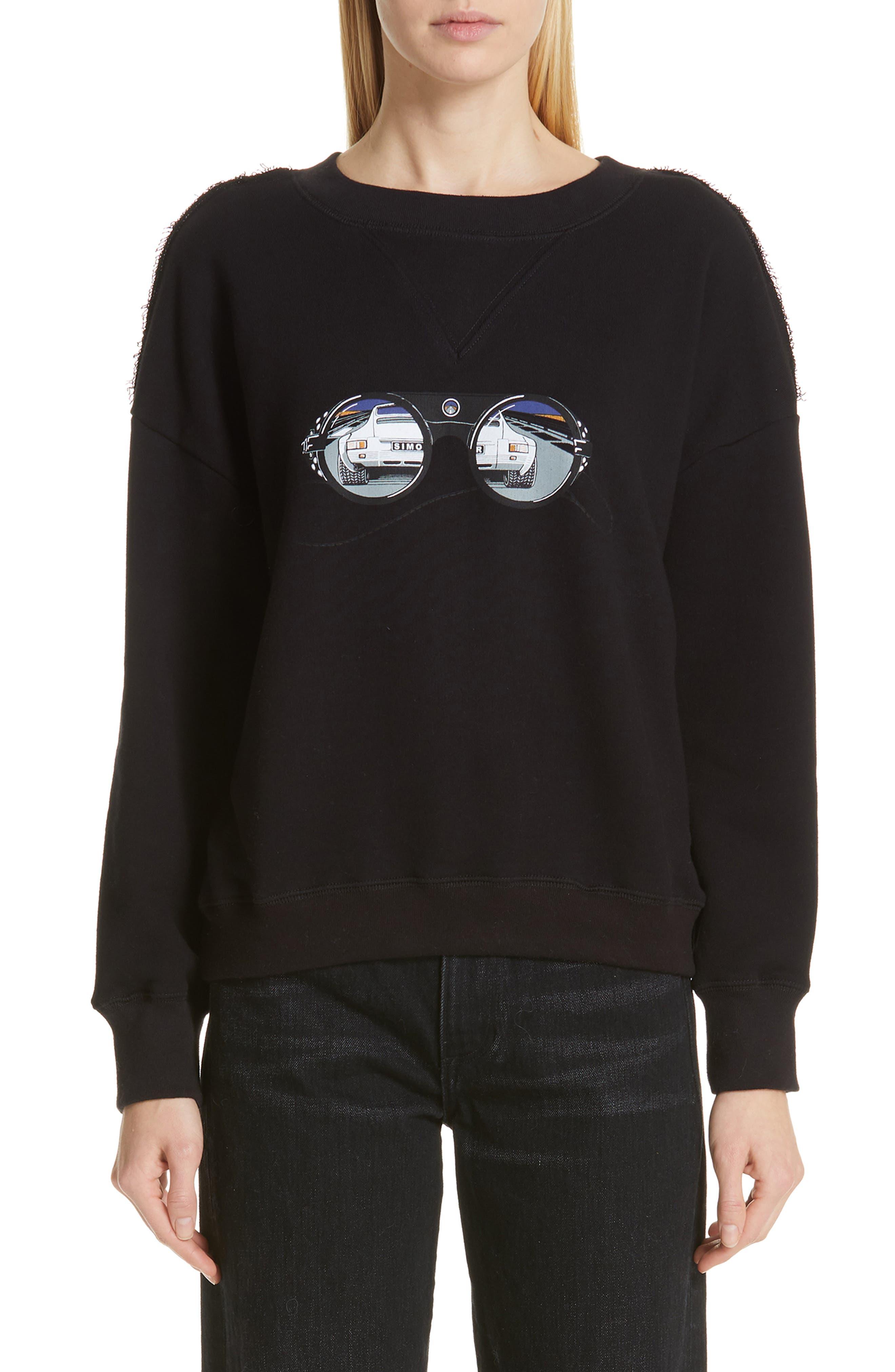 Simon Miller West Sweatshirt, Black (Nordstrom Exclusive)