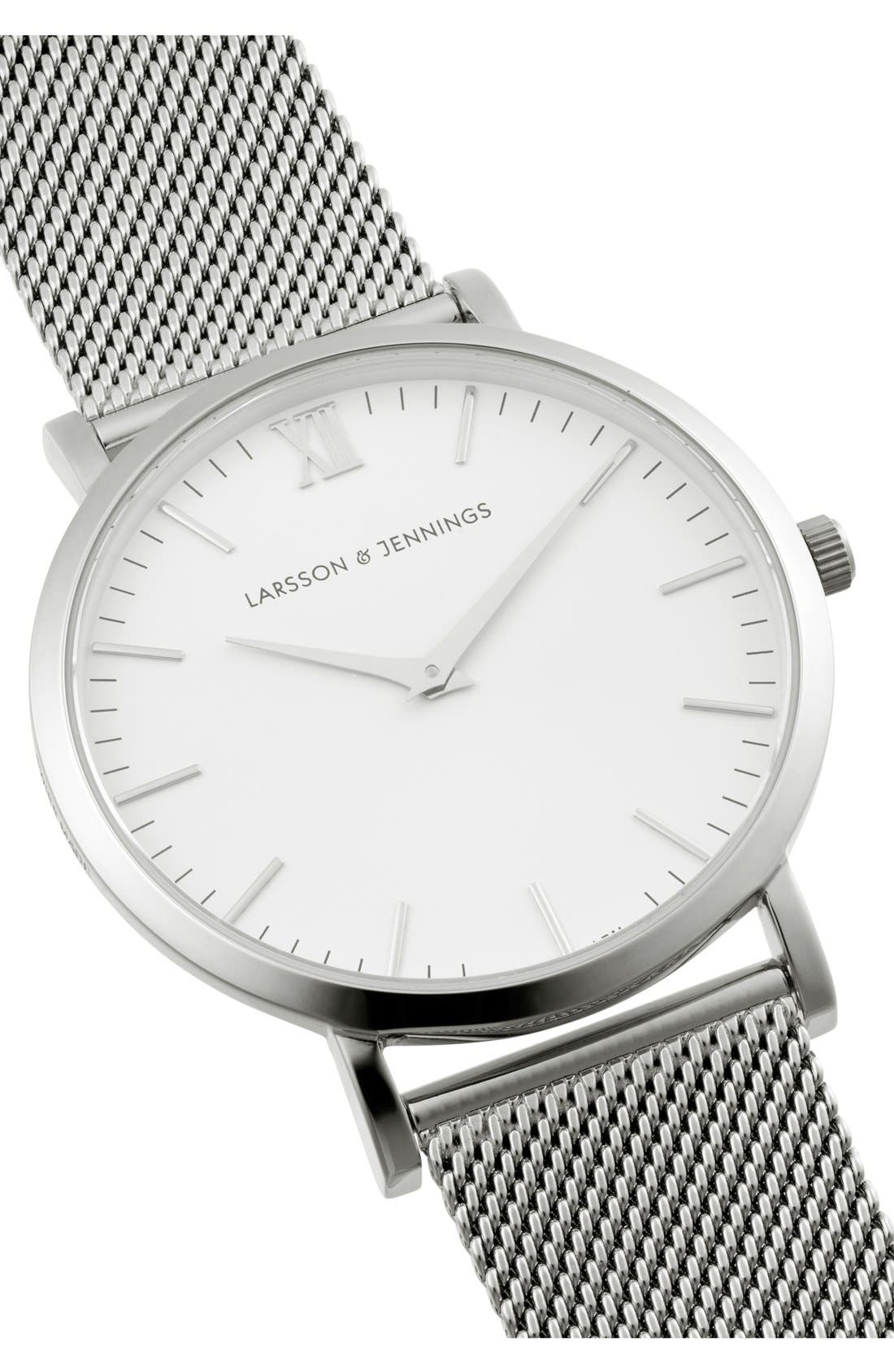 ,                             Lugano Mesh Strap Watch, 40mm,                             Alternate thumbnail 18, color,                             040
