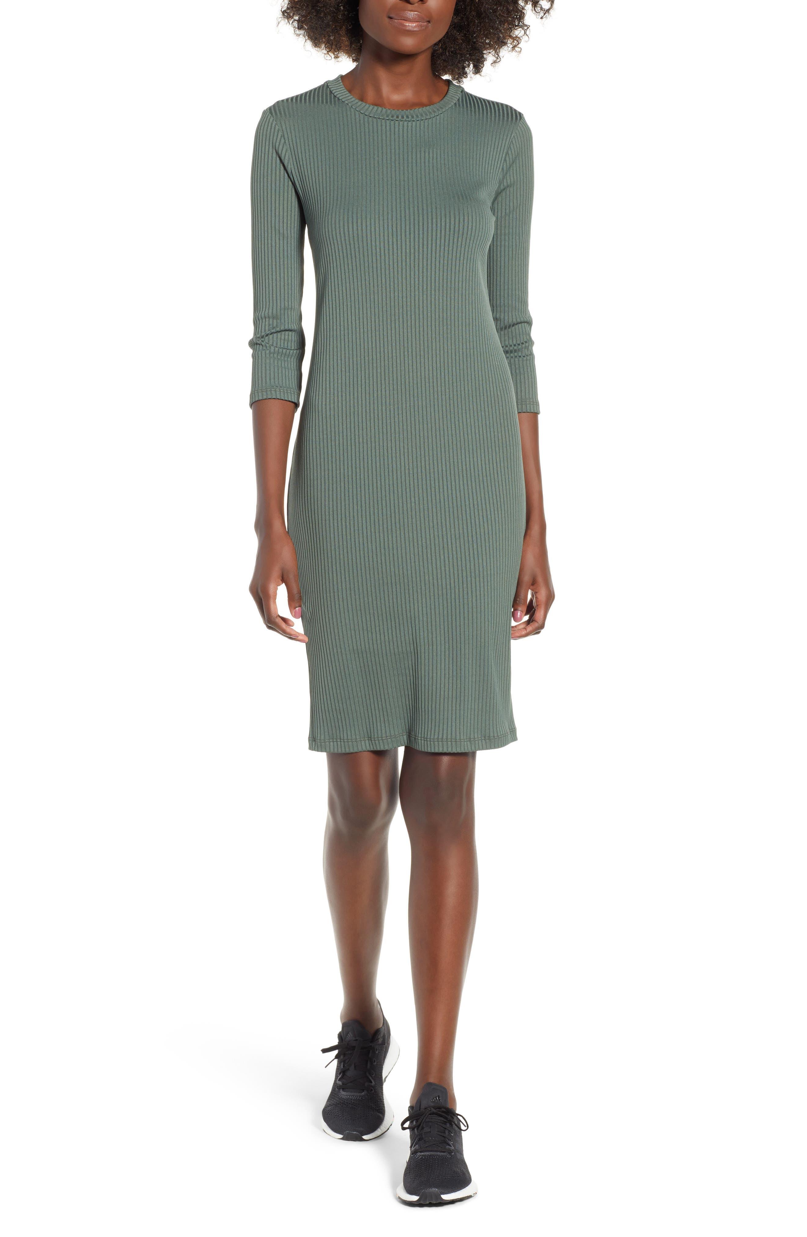 ,                             Ribbed Body-Con Minidress,                             Main thumbnail 6, color,                             300